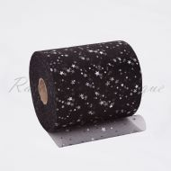 Black Sequin Star Tulle Roll